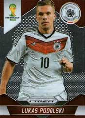 Prizm Card World Cup Brasil 2014 soccer Lukas Podolski