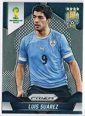 Prizm Card World Cup Brasil 2014 soccer Luis Suarez