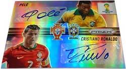 Prizm card Combo signature Pele Cristiano Ronaldo Fifa World Cup Brasil 2014