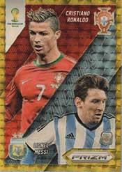 World Cup Matchups Prizm Brasil 2014 Fifa Lionel Messi Cristiano Ronaldo